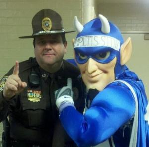 John and the Blue Devil.