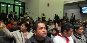 Durham City Council Meeting 11/15/2010. Chambers were FULL of Illegal Immigrants.