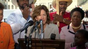Senator Kay Hagan, along with her intellectual counterpart Representative Sheila Jackson Lee at a presser on Pigford II. Click to enlarge the image....if you dare.