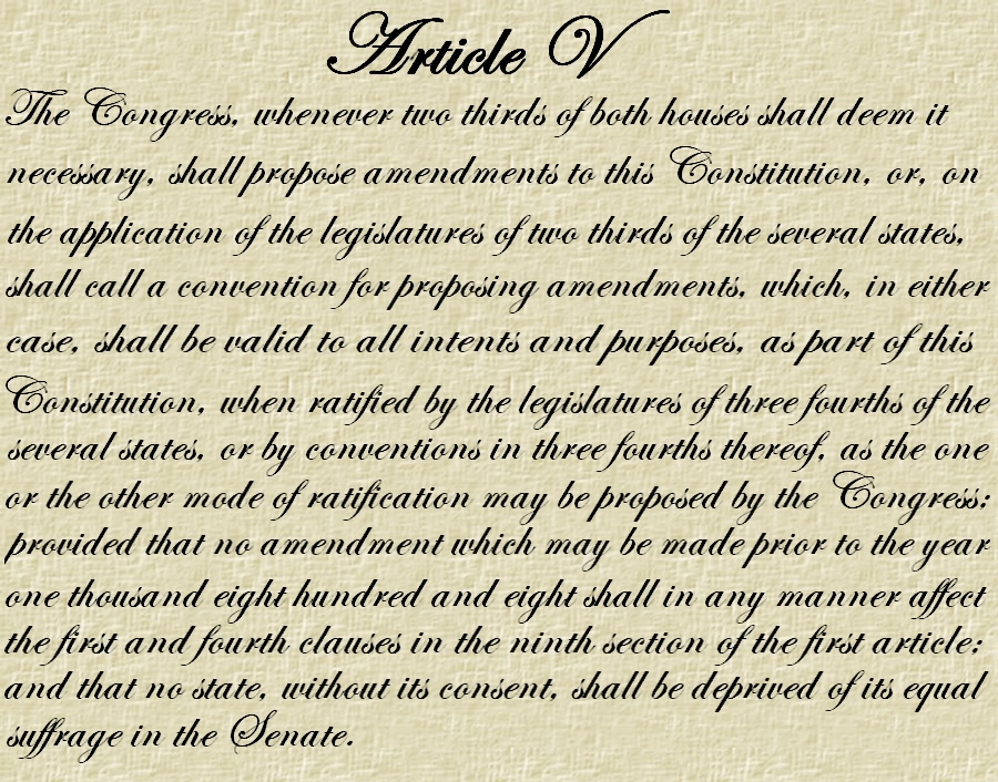 an introduction to the us constitution and the article five Edit article how to cite the constitution three methods: in the united states, citizens are guaranteed the right to freedom of religion.