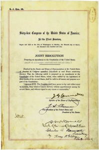 Senate Joint Resolution 20. July 15, 1909. Click to enlarge the image.