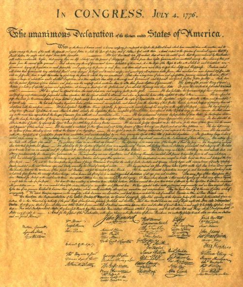 The Declaration of Independence. Just ONE of the great documents left to us by the Founders.