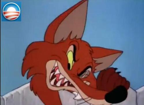 The fox represents the Democratic Party of today.