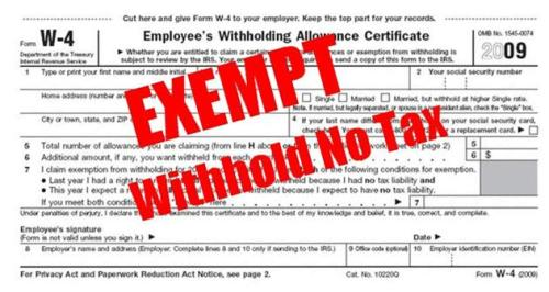 W4ExemptWithholdNoTax