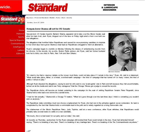 Article from 2004 states that BHO was born in Kenya.  Click to enlarge
