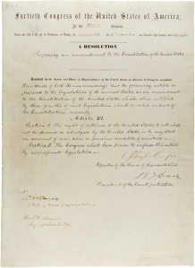 15th Amendment Senate Joint resolution 8. Click to enlarge.