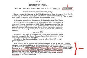 15th Amendment, pg 1 -- Click to enlarge