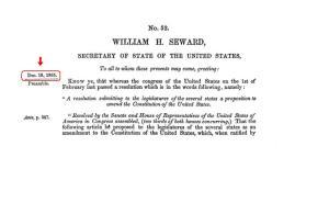 13th Amendment, pg 1 -- Click to enlarge